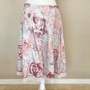 Anthropologie Odille Floral Skirt